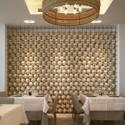 Impresionante decoración del restaurante