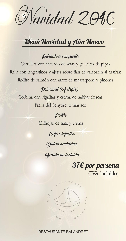 Menunavidadbalandret hotel boutique balandret - Menu de cenas navidenas ...